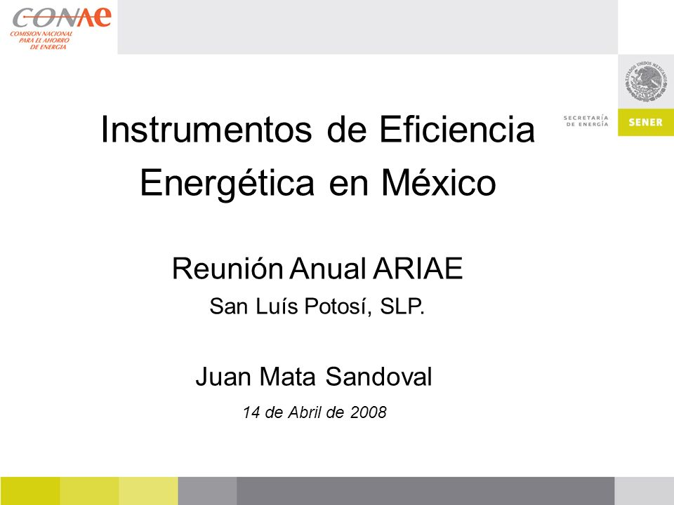 Instrumentos de Eficiencia Energética en México