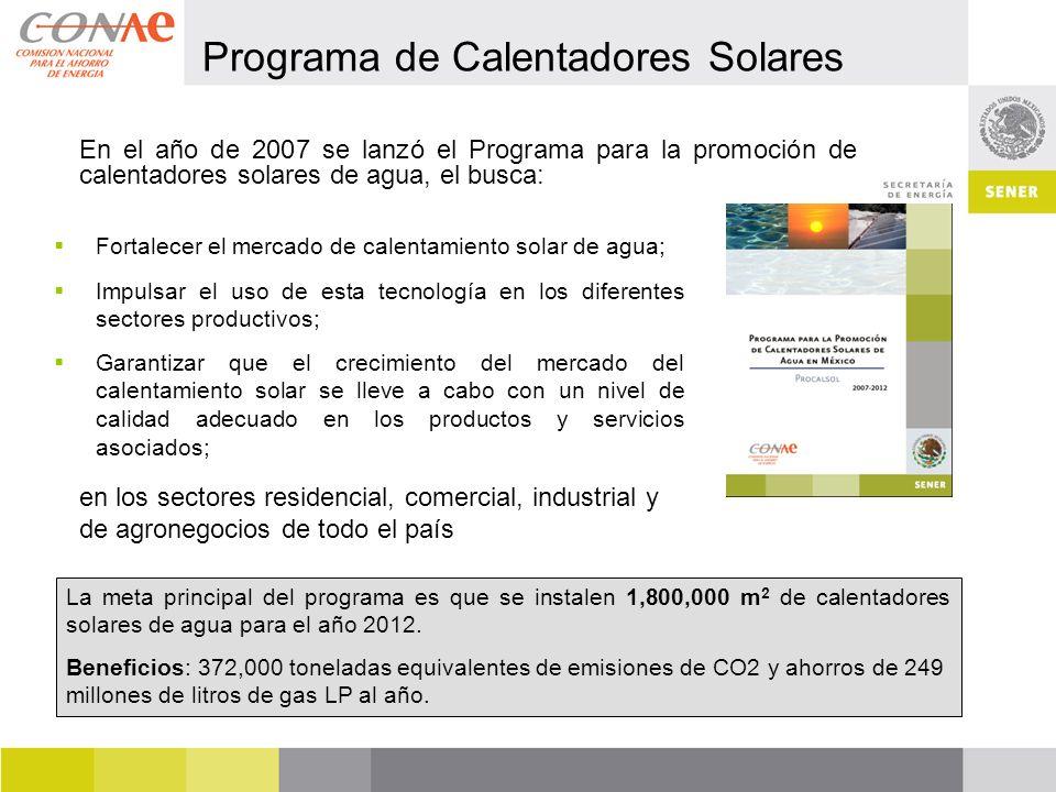 Programa de Calentadores Solares