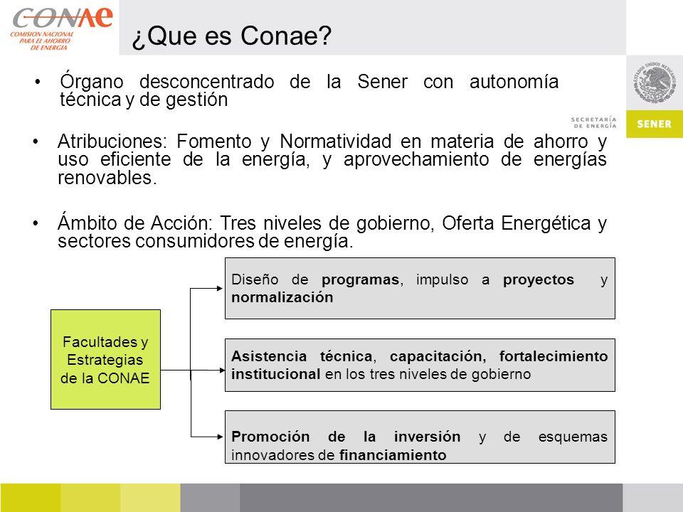 Facultades y Estrategias de la CONAE
