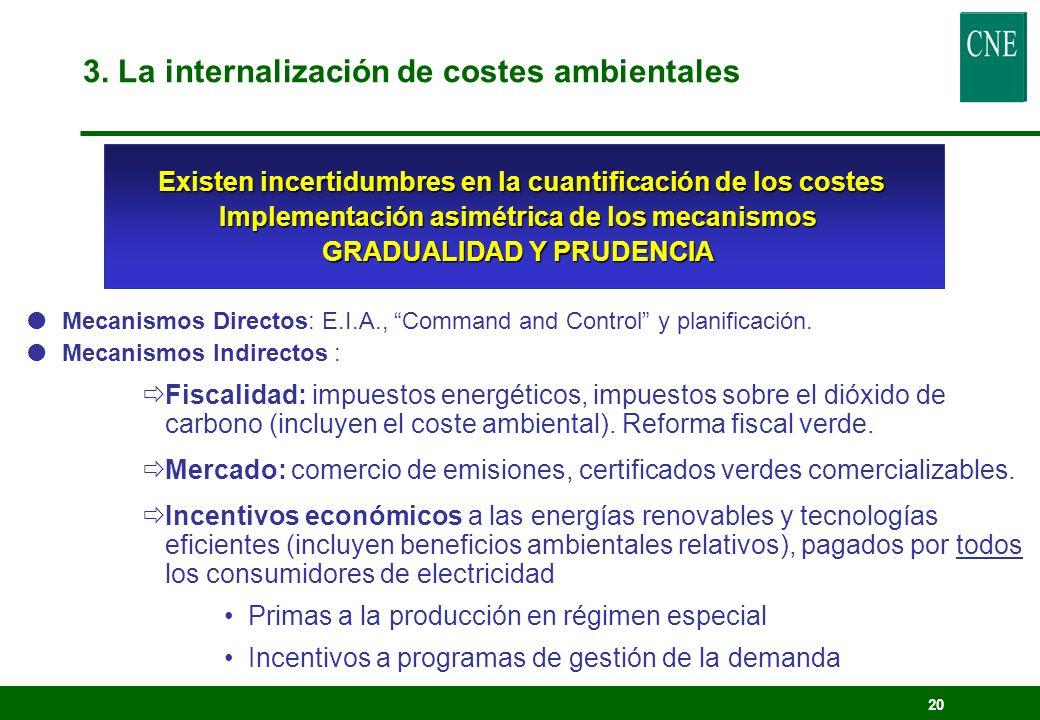 3. La internalización de costes ambientales