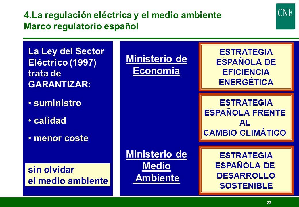 Ministerio de Economía Ministerio de Medio Ambiente
