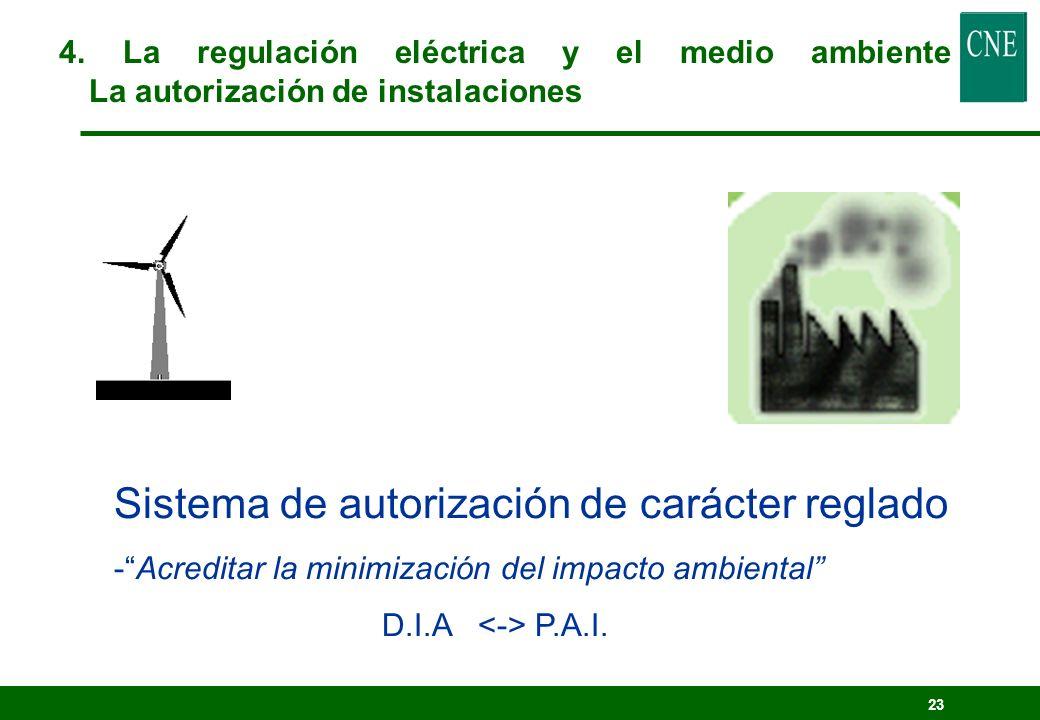 Sistema de autorización de carácter reglado