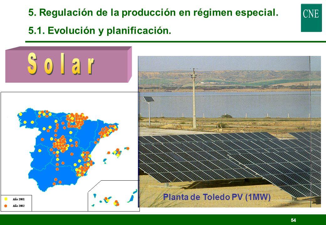 Solar 5. Regulación de la producción en régimen especial.