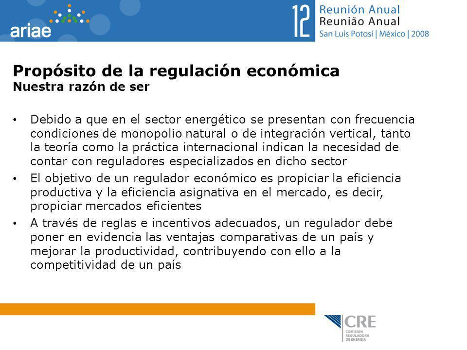 Propósito de la regulación económica Nuestra razón de ser