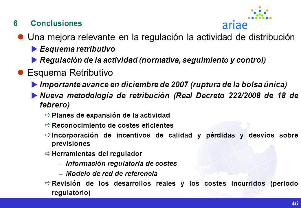 Una mejora relevante en la regulación la actividad de distribución