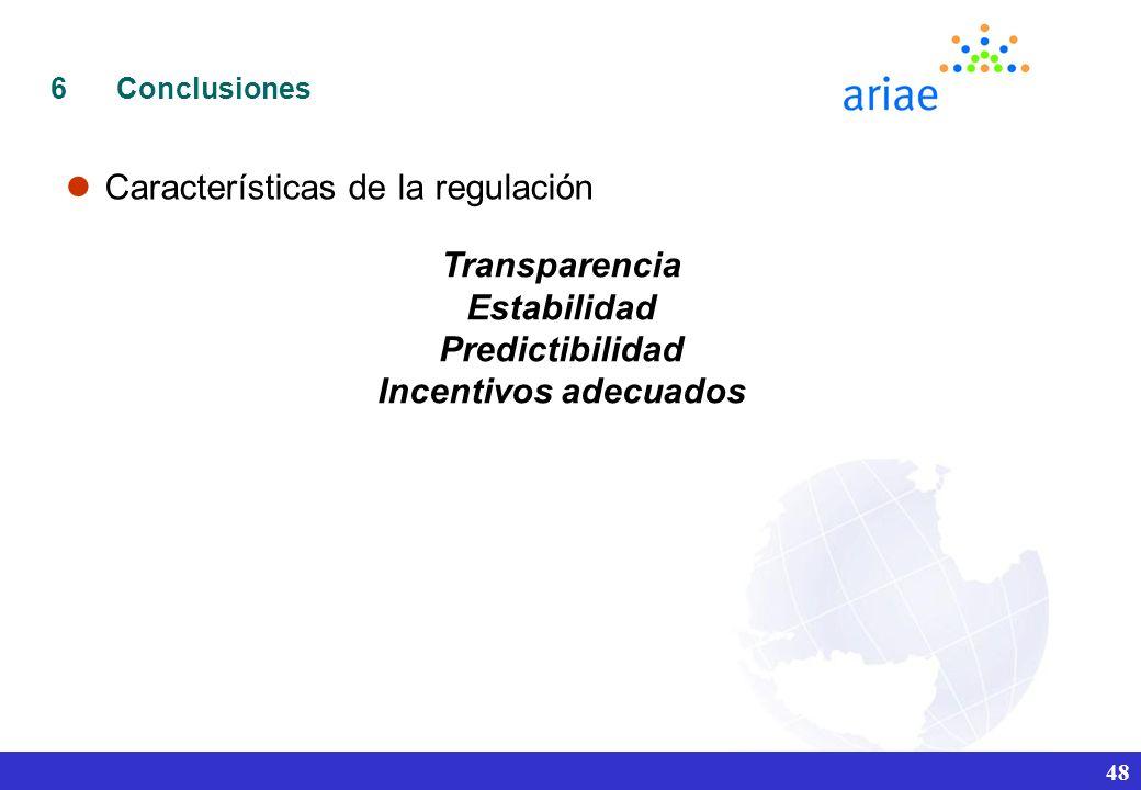 Transparencia Estabilidad Predictibilidad Incentivos adecuados