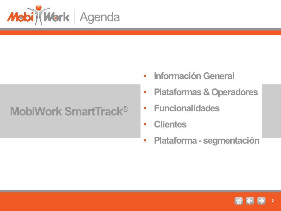 Agenda MobiWork SmartTrack® Información General