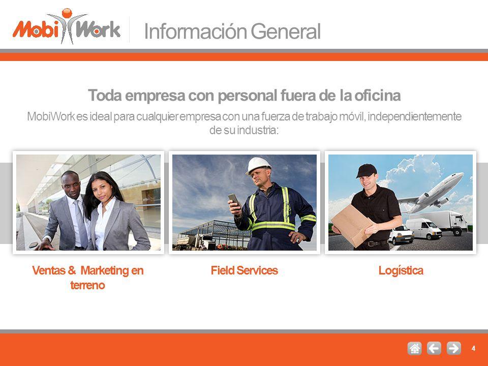Información General Toda empresa con personal fuera de la oficina
