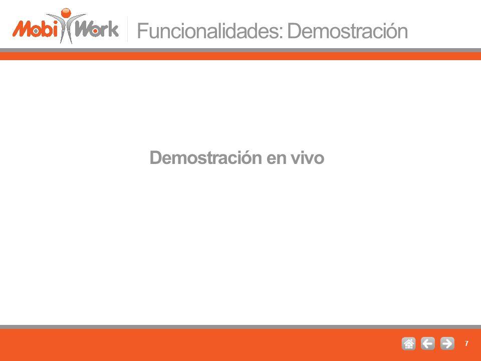 Funcionalidades: Demostración