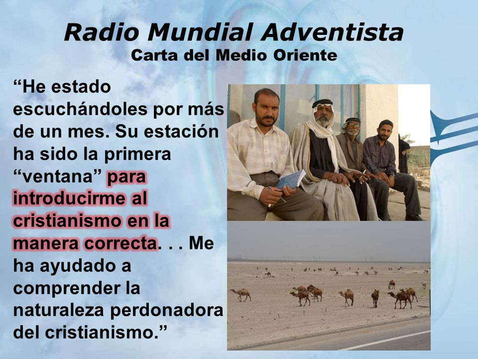 Radio Mundial Adventista Carta del Medio Oriente