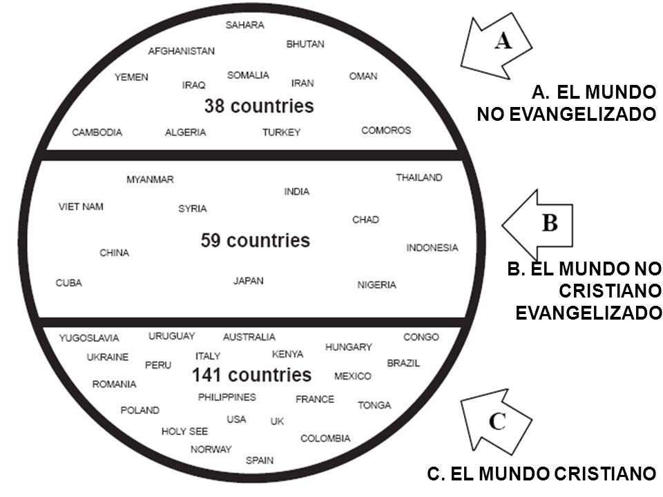 EL MUNDO NO EVANGELIZADO B. EL MUNDO NO CRISTIANO EVANGELIZADO C. EL MUNDO CRISTIANO