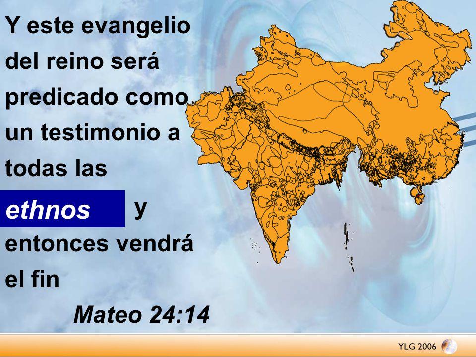 Y este evangelio del reino será predicado como un testimonio a todas las naciones y entonces vendrá el fin