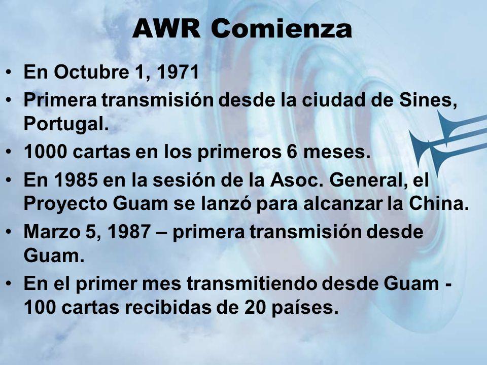 AWR Comienza En Octubre 1, 1971