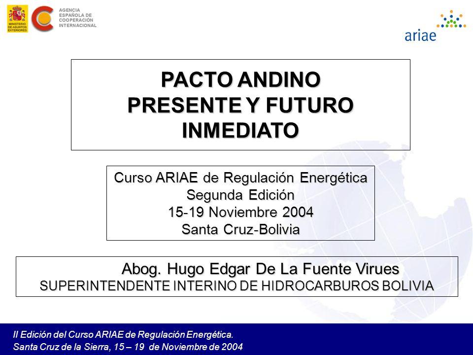 PACTO ANDINO PRESENTE Y FUTURO INMEDIATO