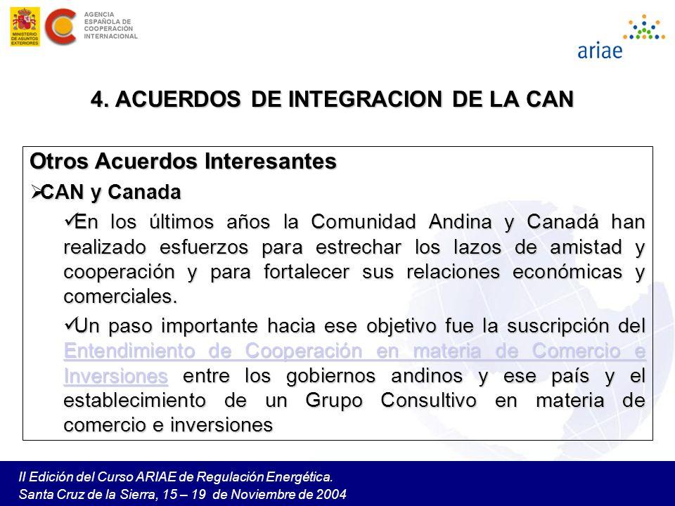 4. ACUERDOS DE INTEGRACION DE LA CAN