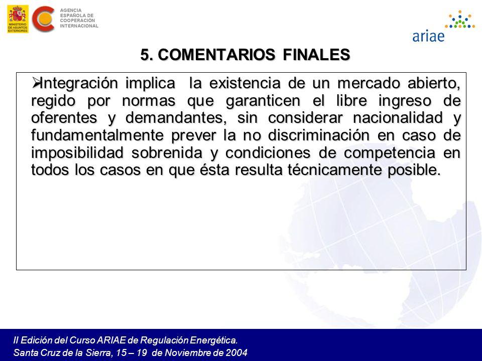 II Edición del Curso ARIAE de Regulación Energética