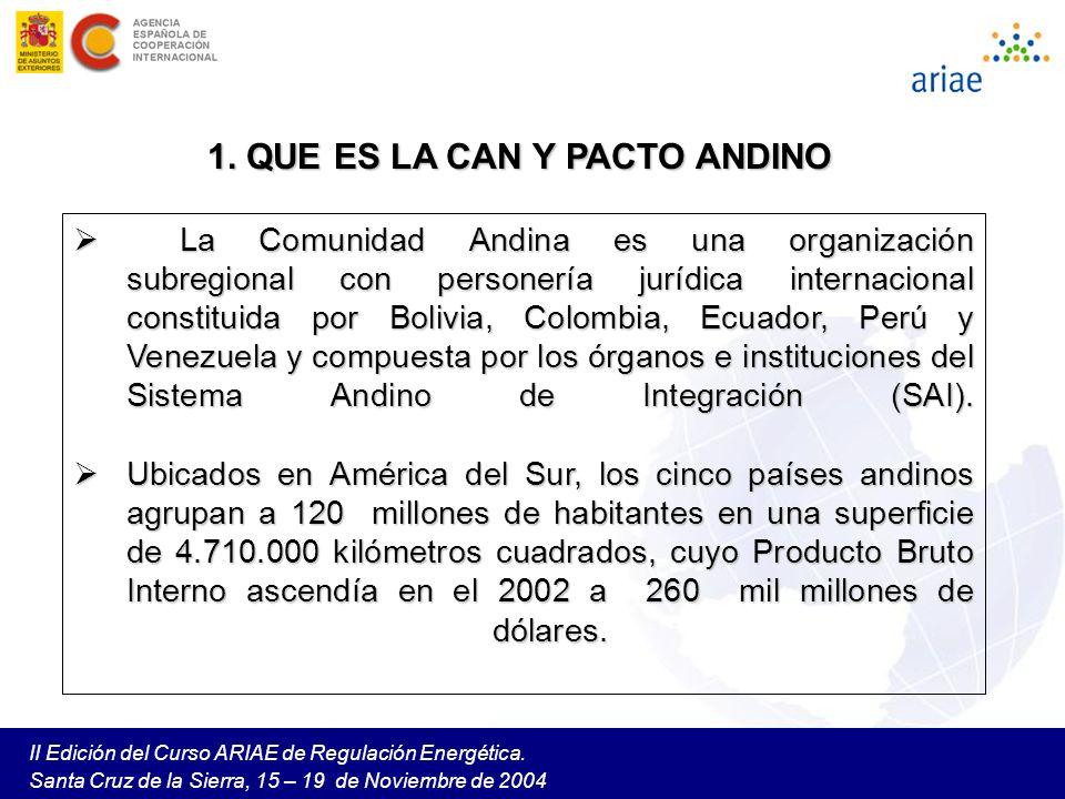 1. QUE ES LA CAN Y PACTO ANDINO