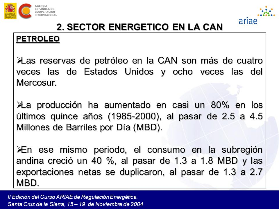 2. SECTOR ENERGETICO EN LA CAN