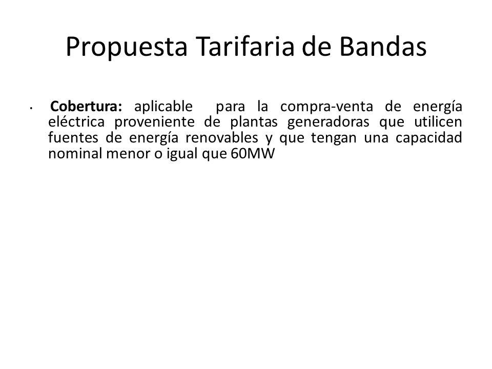 Propuesta Tarifaria de Bandas