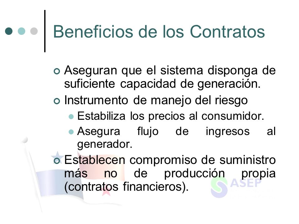 Beneficios de los Contratos