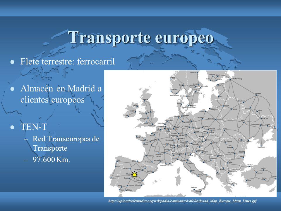 Transporte europeo Flete terrestre: ferrocarril