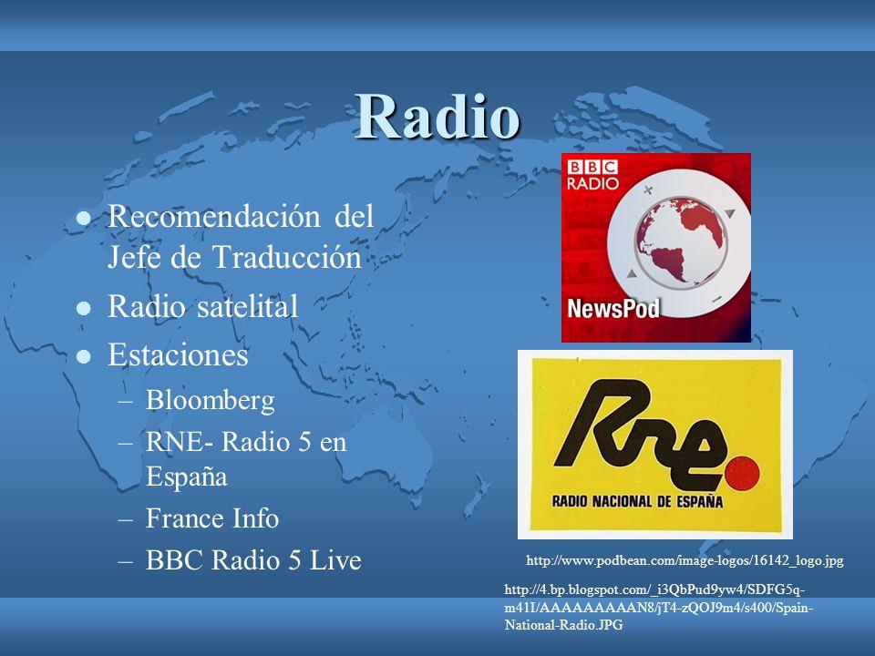 Radio Recomendación del Jefe de Traducción Radio satelital Estaciones