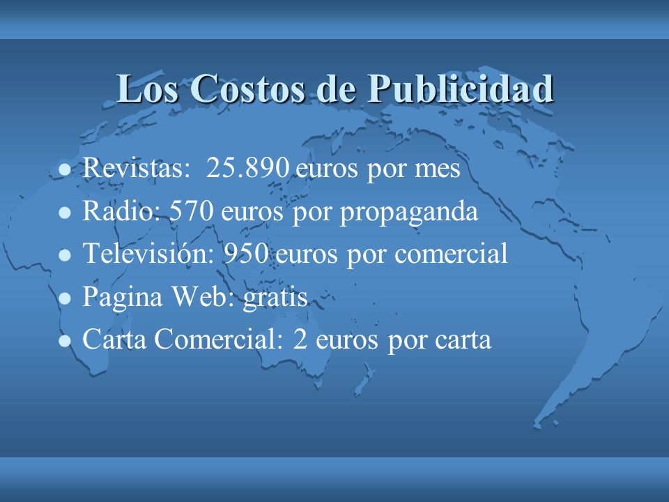 Los Costos de Publicidad