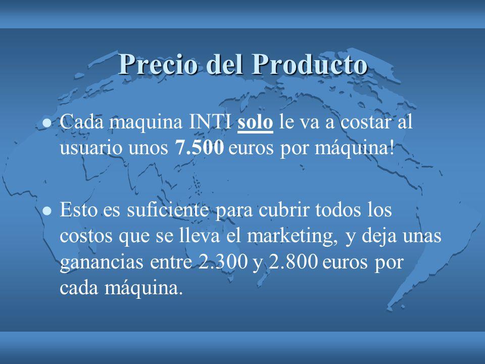 Precio del Producto Cada maquina INTI solo le va a costar al usuario unos 7.500 euros por máquina!