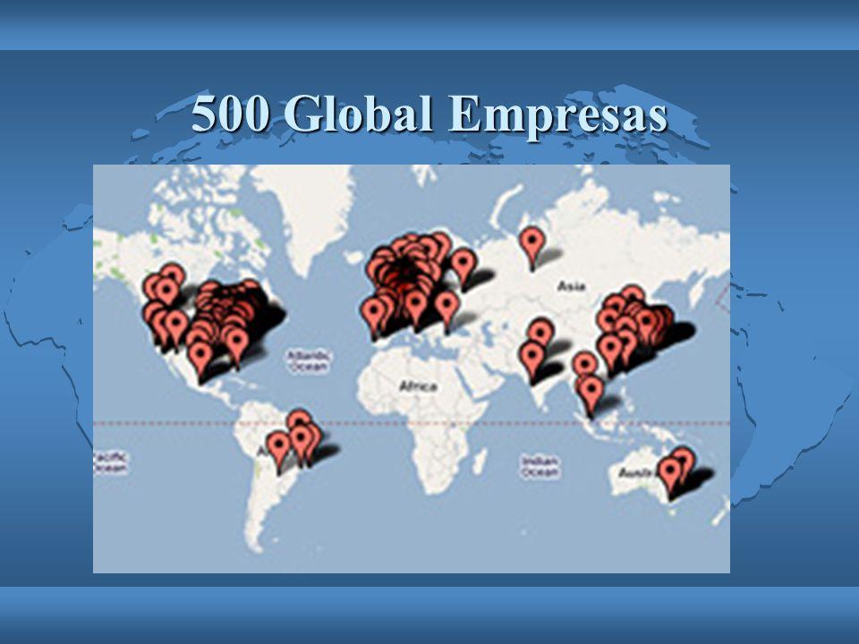 500 Global Empresas Europa, Los Estados Unidos, Asia