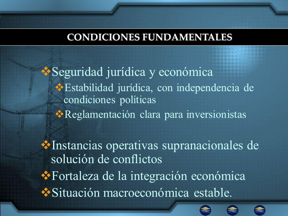 CONDICIONES FUNDAMENTALES