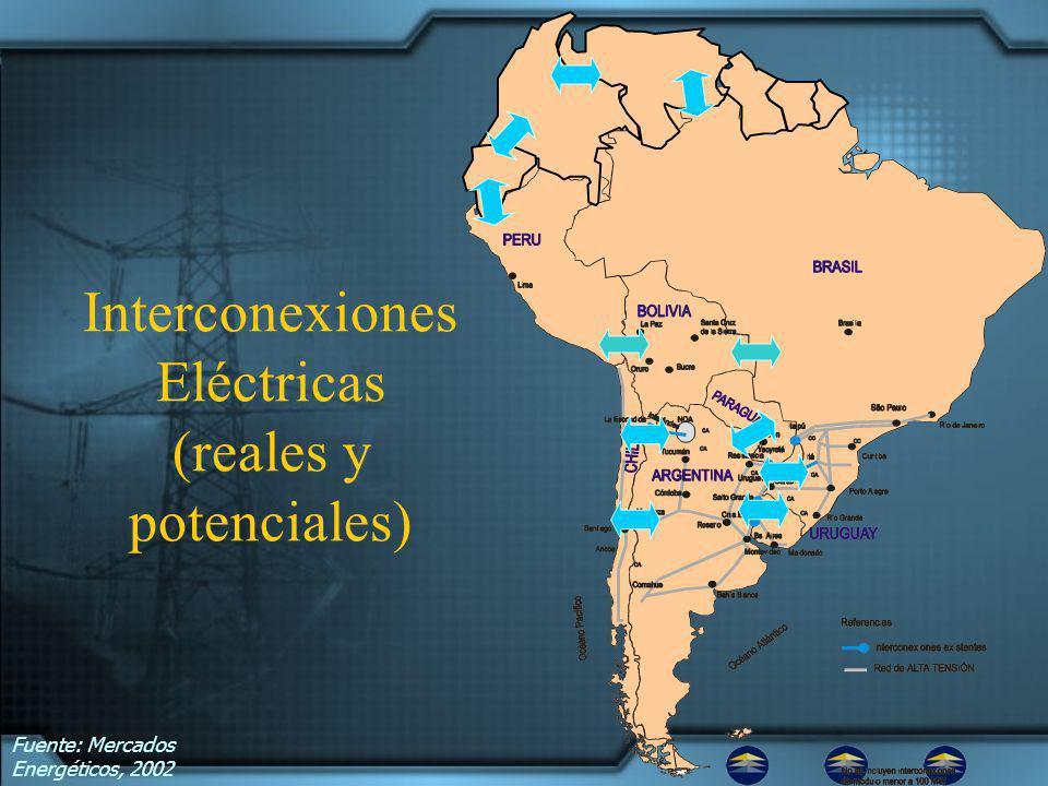 Interconexiones Eléctricas (reales y potenciales)