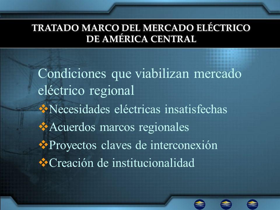 TRATADO MARCO DEL MERCADO ELÉCTRICO