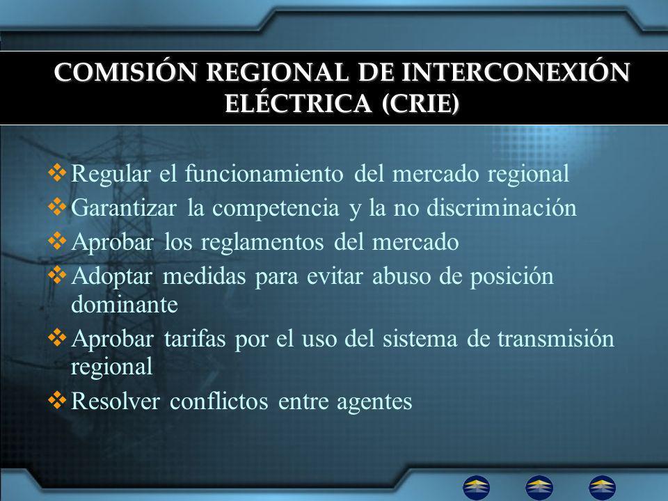 COMISIÓN REGIONAL DE INTERCONEXIÓN ELÉCTRICA (CRIE)