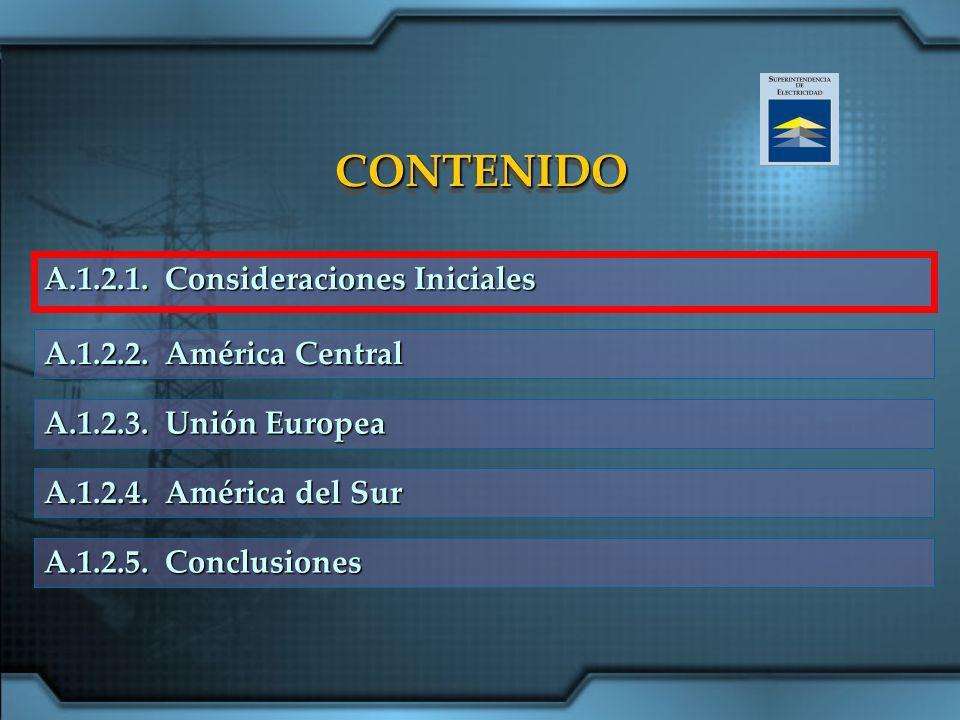 CONTENIDO A.1.2.1. Consideraciones Iniciales A.1.2.2. América Central