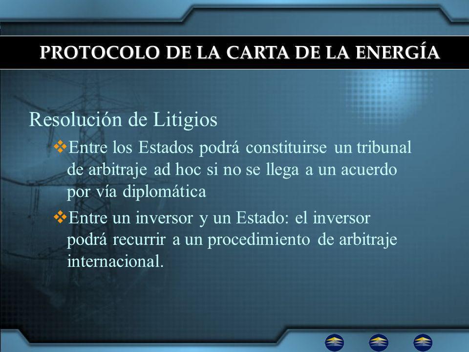 PROTOCOLO DE LA CARTA DE LA ENERGÍA