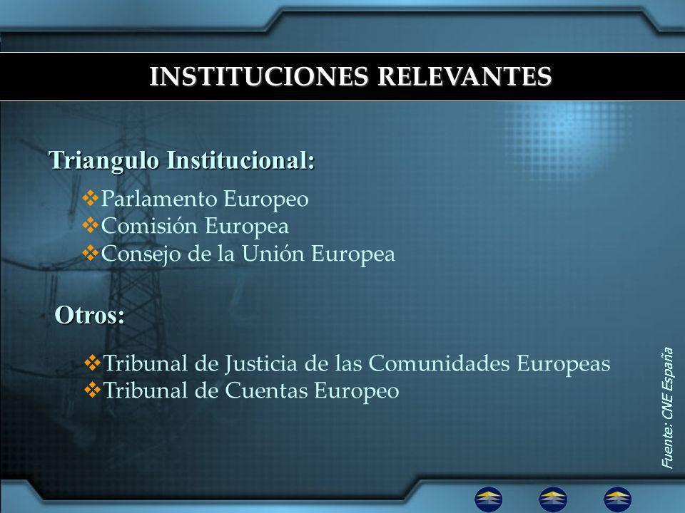 INSTITUCIONES RELEVANTES Triangulo Institucional: