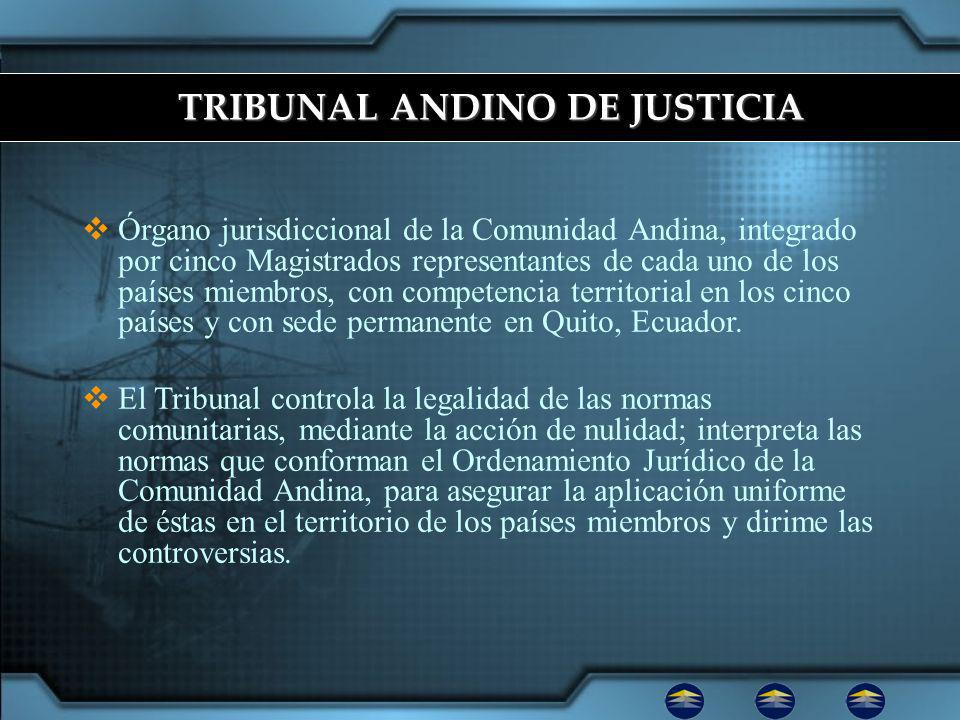 TRIBUNAL ANDINO DE JUSTICIA
