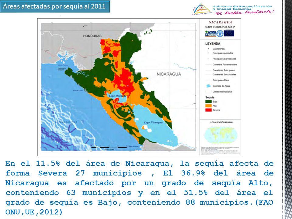 Áreas afectadas por sequía al 2011