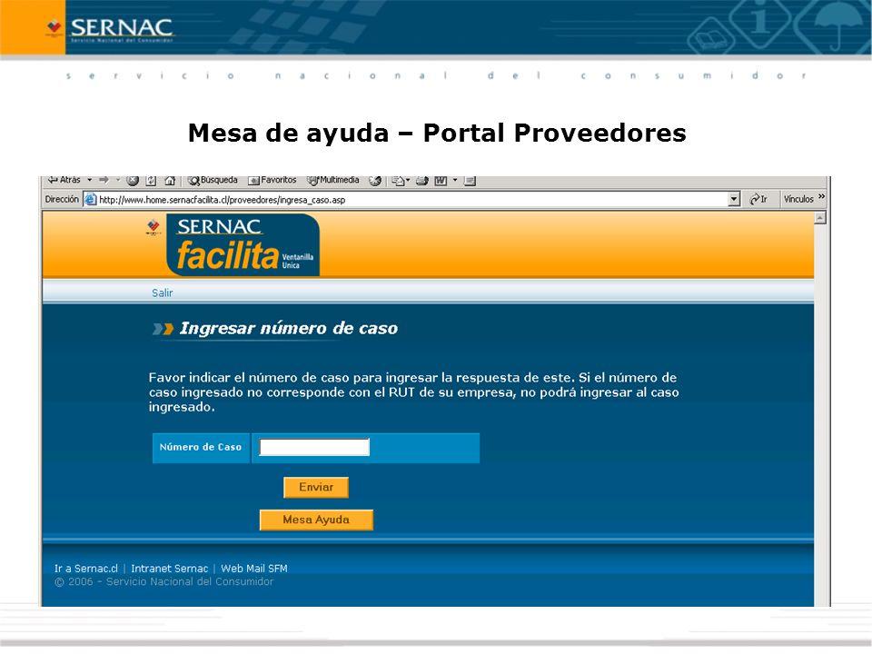 Mesa de ayuda – Portal Proveedores