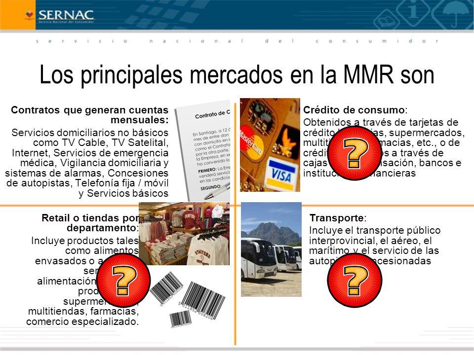Los principales mercados en la MMR son