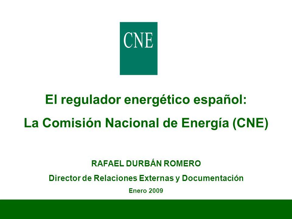 El regulador energético español: La Comisión Nacional de Energía (CNE)