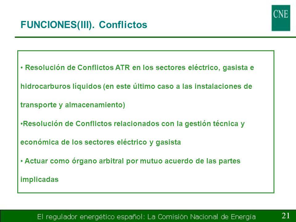 FUNCIONES(III). Conflictos