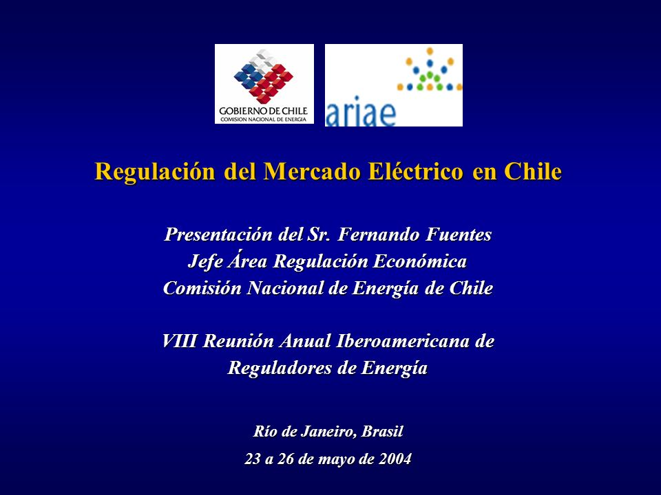 Regulación del Mercado Eléctrico en Chile
