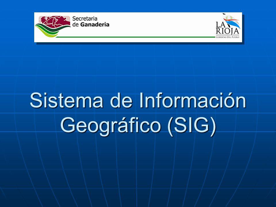 Sistema de Información Geográfico (SIG)
