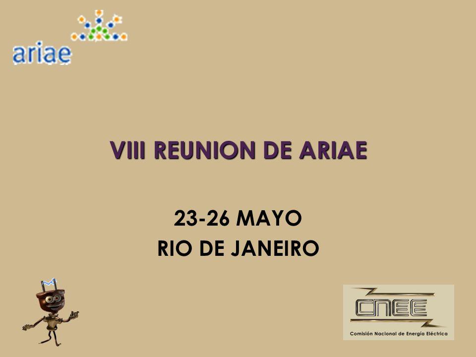 VIII REUNION DE ARIAE 23-26 MAYO RIO DE JANEIRO