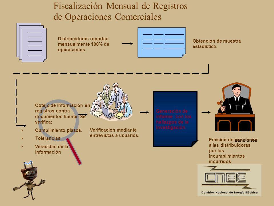 Fiscalización Mensual de Registros de Operaciones Comerciales