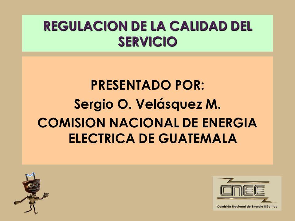 REGULACION DE LA CALIDAD DEL SERVICIO