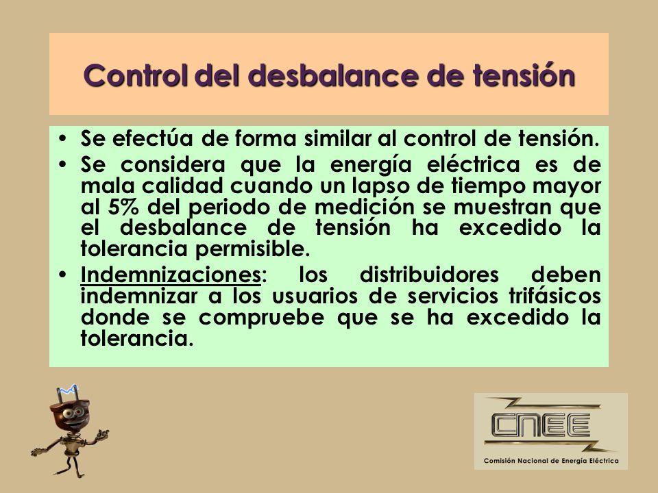Control del desbalance de tensión