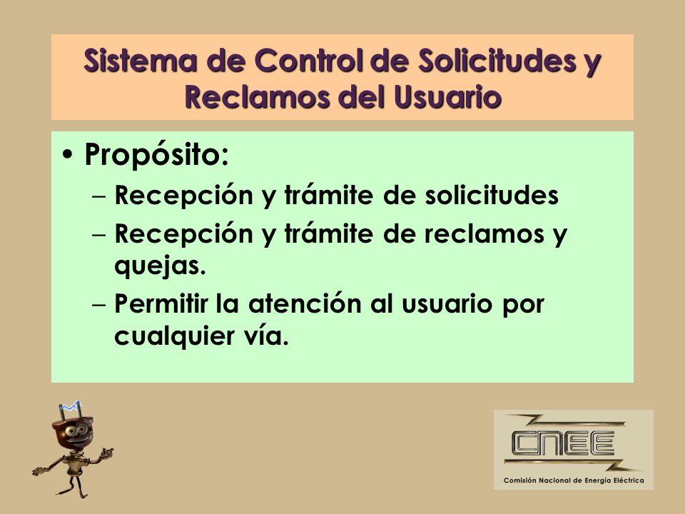 Sistema de Control de Solicitudes y Reclamos del Usuario