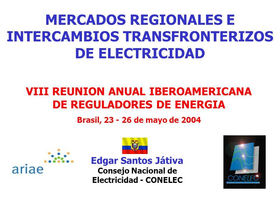 MERCADOS REGIONALES E INTERCAMBIOS TRANSFRONTERIZOS DE ELECTRICIDAD